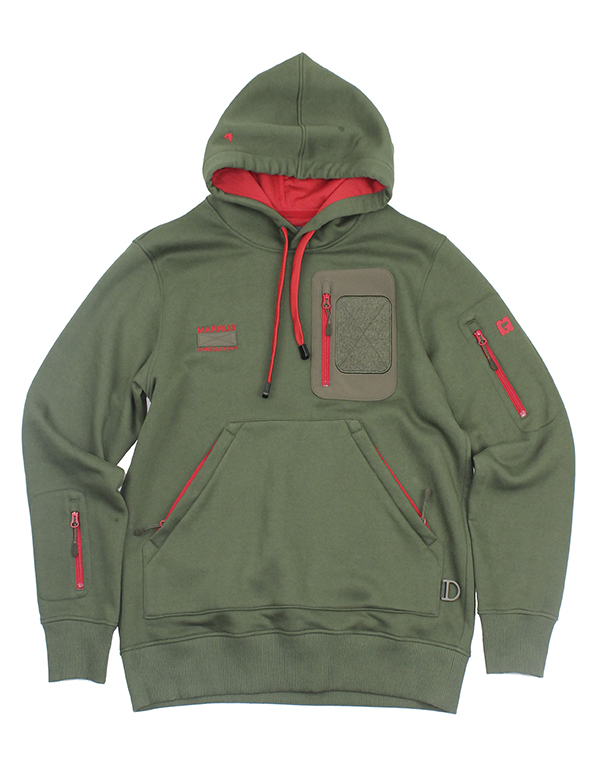Hoody Cotton Predator Green