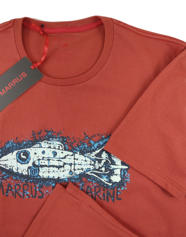T-shirt  Marrus Submarine terracotta