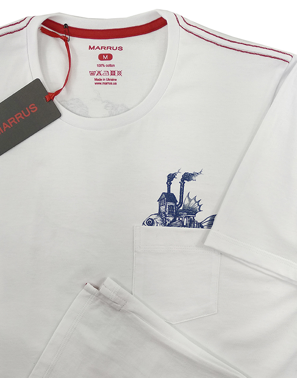 T-shirt  Marrus Steamship white